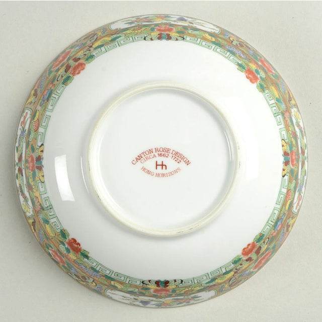 1970s Hong Horizons Canton Rose Individual Bowl - Set of 8 For Sale In Greensboro - Image 6 of 8