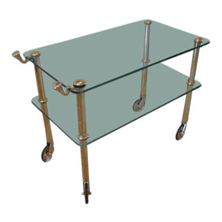 Osvaldo Borsani Brass Serving Cart Ca' 1950's