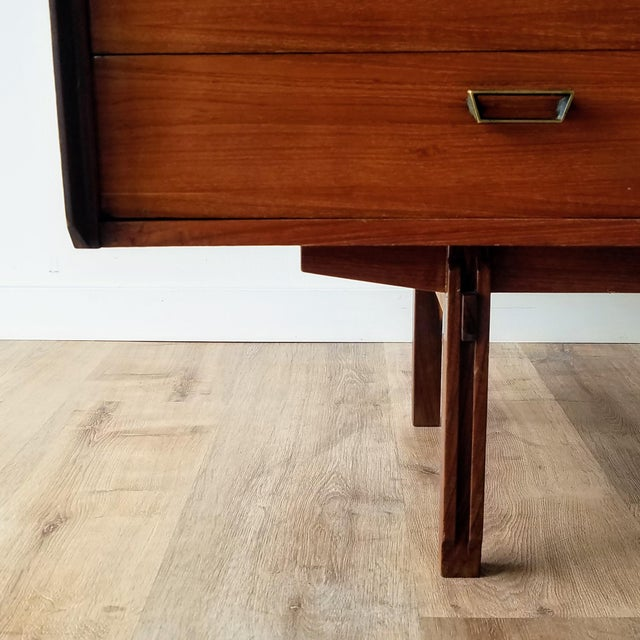 Vintage Mid-Century Modern Italian Credenza For Sale - Image 12 of 12