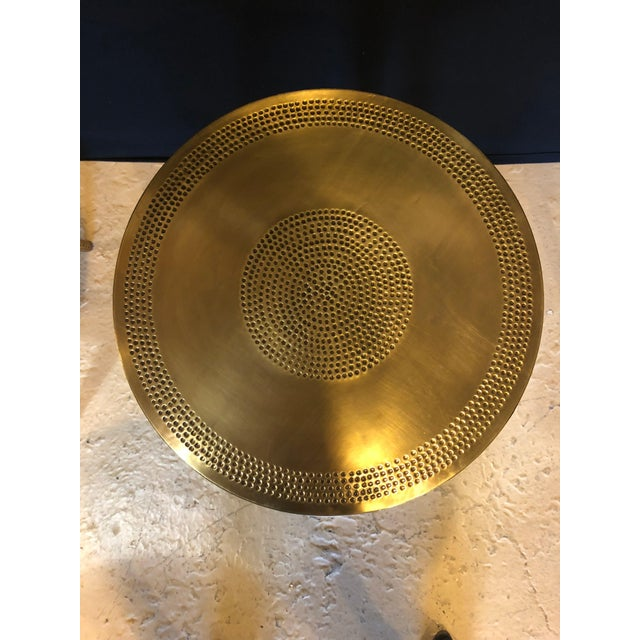 Moorish Style Brass Nesting Tables - Set of 3 For Sale In New York - Image 6 of 13