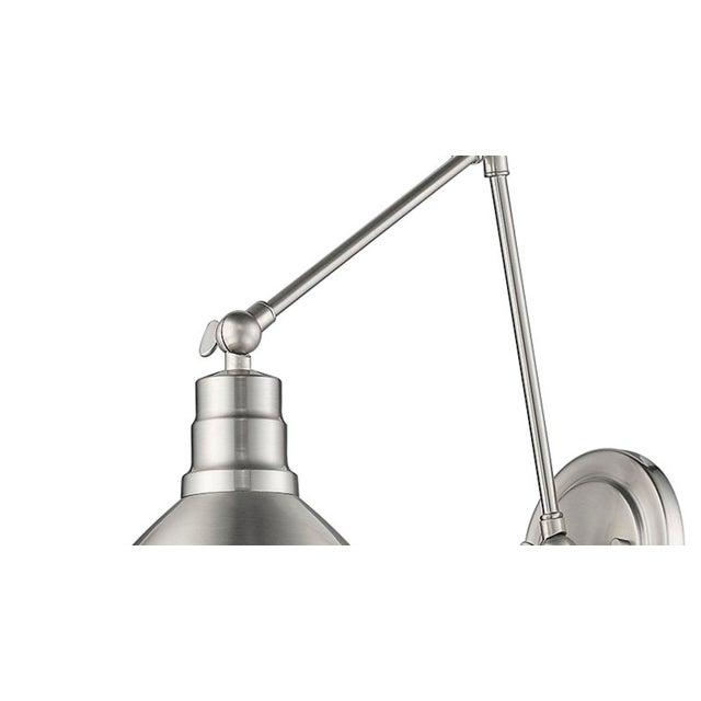 Industrial Lenox Satin Nickel 1 Light Sconce For Sale - Image 3 of 4