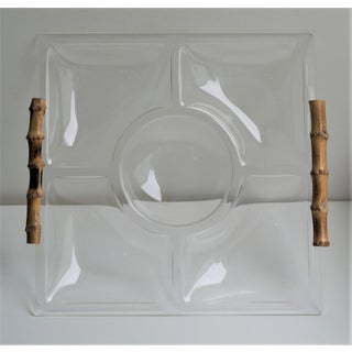 1960s Vintage Lucite Bamboo Handle Tray Preview