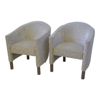 1970s Brayton International Collection Pair Modern of Club Tub Armchairs.