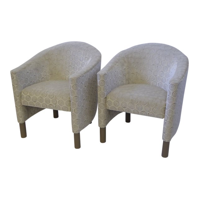 Pair of 1970s Brayton International Collection Modern Club Tub Armchairs For Sale