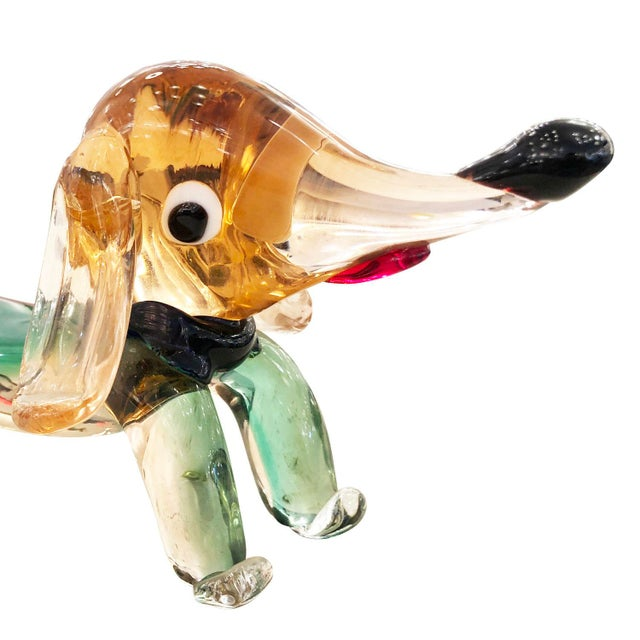Figurative Murano Glass Dachshund Dog Sculpture For Sale - Image 3 of 6