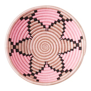 Pink Handwoven Sweetgrass & Sisal Plateau