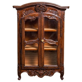 19th Century Antique Miniature Louis XV Style Walnut Armoire For Sale
