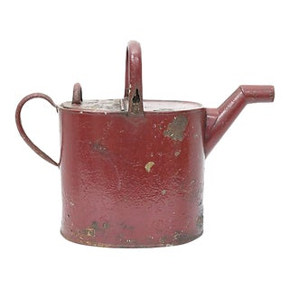 Antique Red Watering Can For Sale