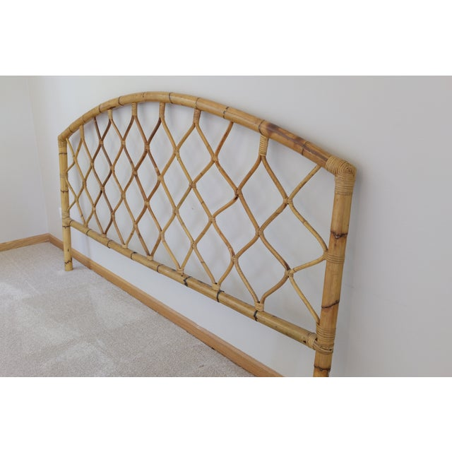 King Size Bamboo Rattan Headboard - Image 4 of 6