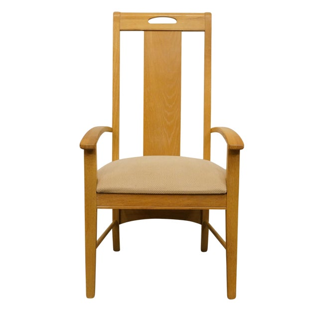 Late 20th Century Vintage Thomasville Furntiure American Revival Collection Dining Arm Chair For Sale