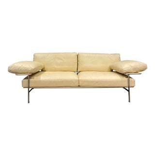 B&b Italia Leather Diesis Sofa For Sale