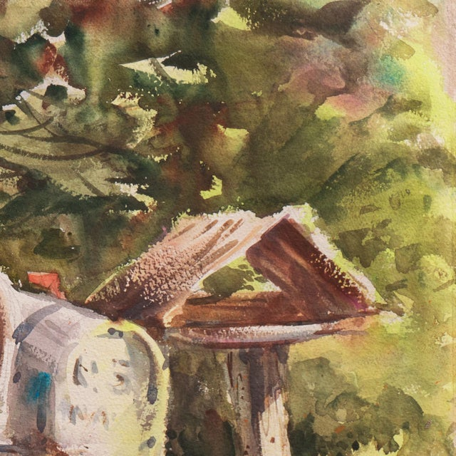 'Rural Route Mailboxes' by Jane Burnham, California Woman Artist, Society of Western Artists For Sale In Monterey, CA - Image 6 of 8