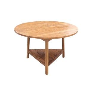 Contemporary Henredon Oak Bistro Table For Sale