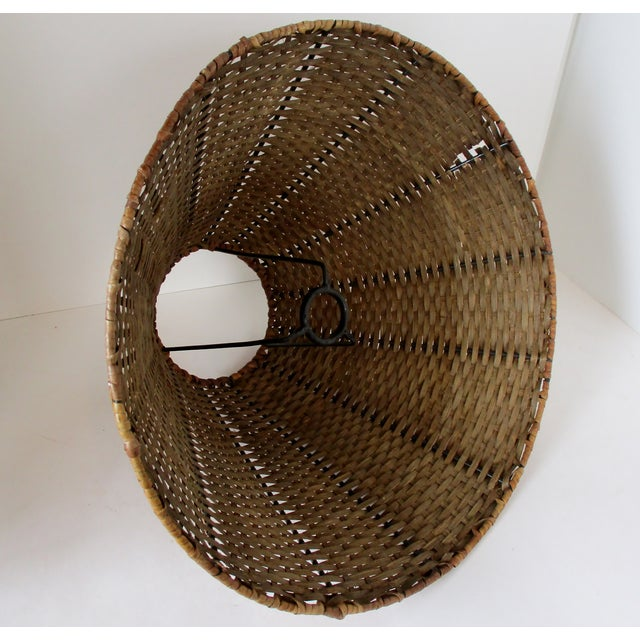 Wicker Uno Lamp Shade For Sale In Los Angeles - Image 6 of 8