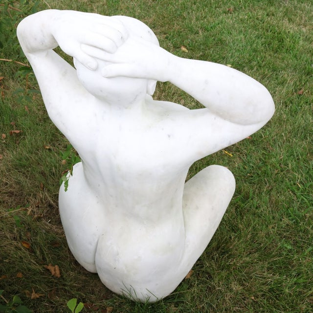 White Marble Nude Sculpture - Image 9 of 11
