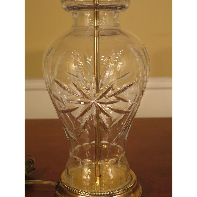 American Classical Waterford Crystal & Brass Table Lamps - a Pair For Sale - Image 3 of 10