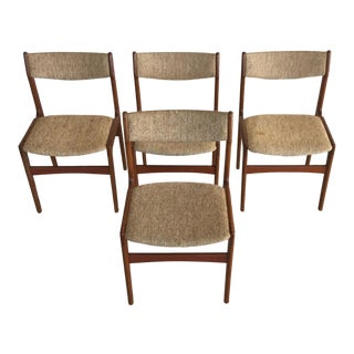 Danish Erik Buch Teak Dining Chairs - Set of 4 For Sale