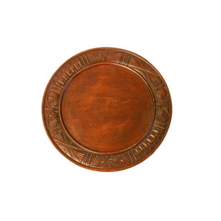 Unique Carved Wooden Plate