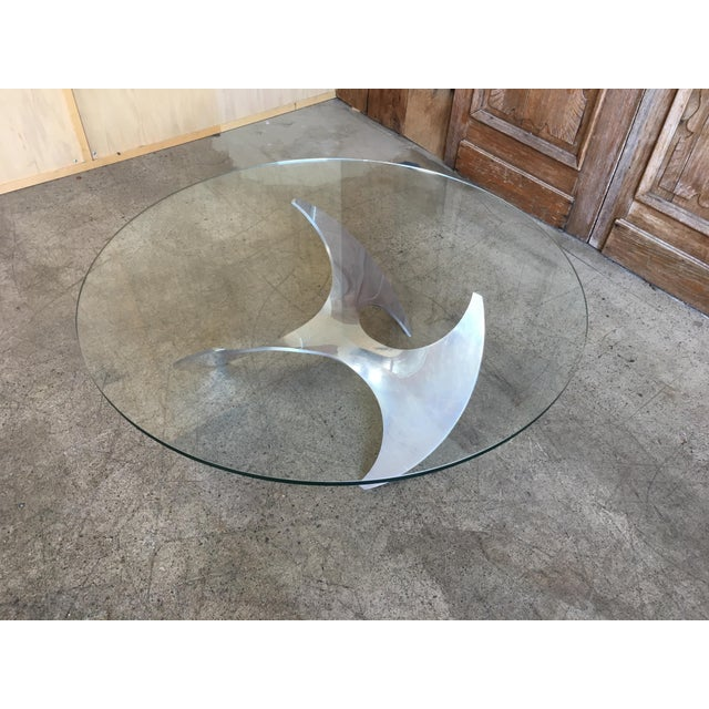 Mid 20th Century Aluminum and Glass Propeller Table by Knut Hesterberg For Sale - Image 5 of 9