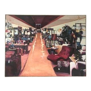 "Original Val Lewton ""Love It Like Levitz"" Oil on Canvas Painting For Sale"