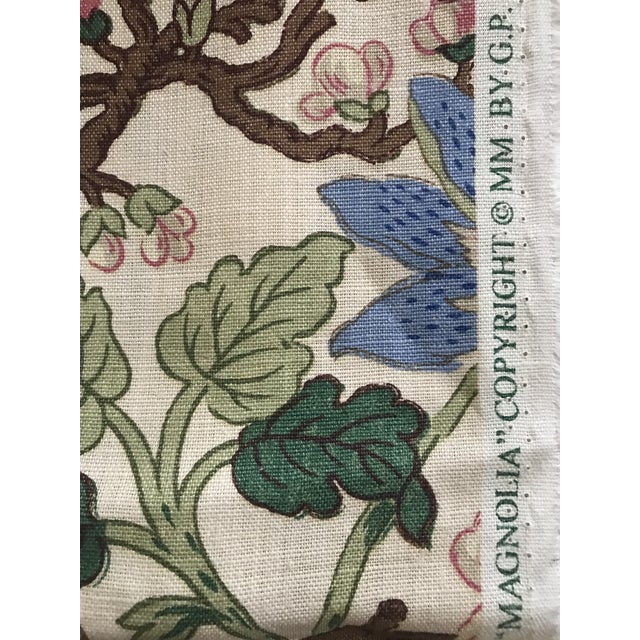 Traditional G P & J Baker Magnolia Colorful Linen Fabric - 10 Yards For Sale - Image 3 of 11