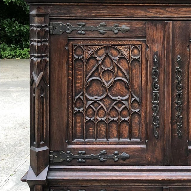 Antique French Gothic Cabinet For Sale - Image 11 of 12