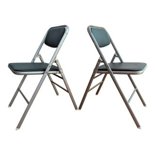 Vintage Samsonite Folding Chairs- A Pair For Sale