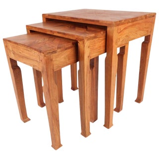 Sculptural Mid-Century Modern Nesting Tables - Set of 3