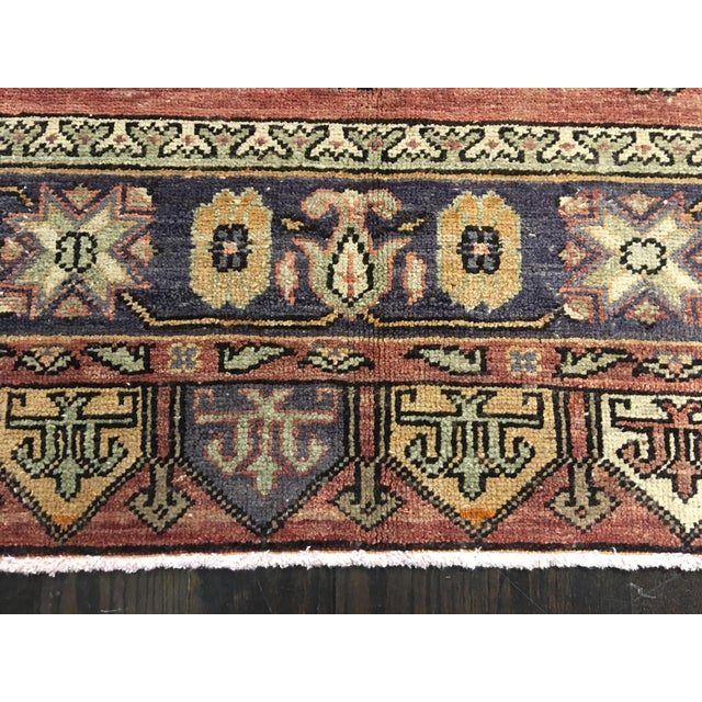 "Vintage Turkish Oushak Runner - 4'4""x9'11"" - Image 3 of 10"