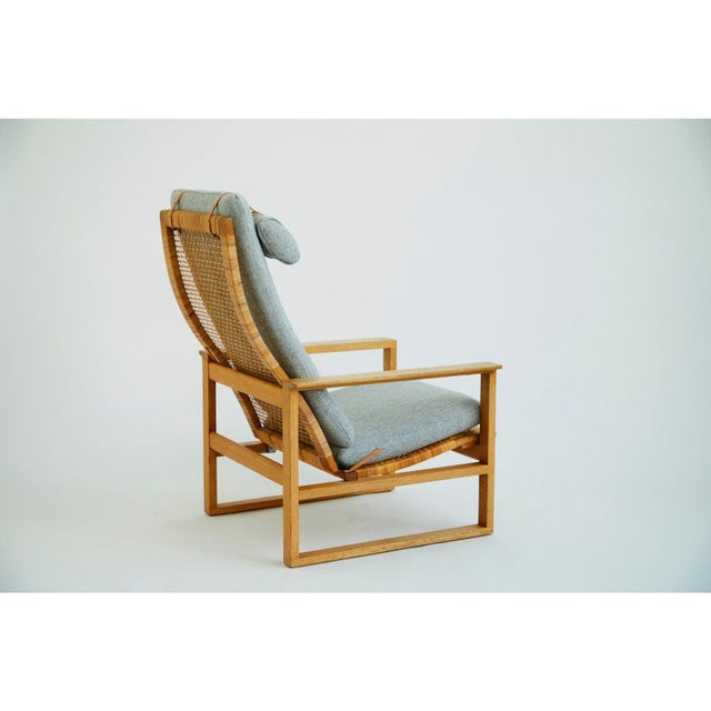Frederica Stolefabrik 1950s Vintage Børge Mogensen Slædestolen Model BM-2254 Chair For Sale - Image 4 of 6