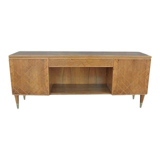 Vintage Italian Art Deco Exotic Wood Cabinet For Sale