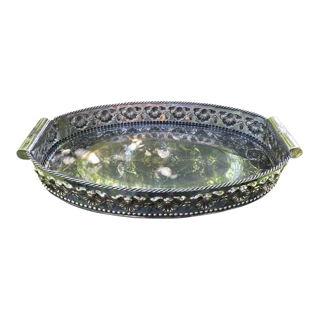 Castilian Imports Silverplate Tray For Sale