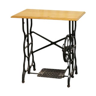 20th Century Traditional Sewing Machine Base Side Table For Sale