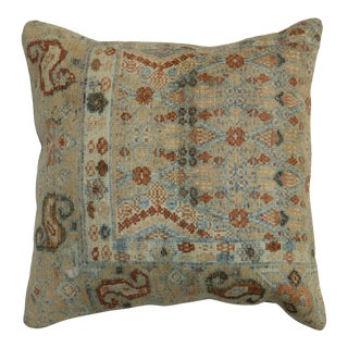 Large Antique Tribal Rug Pillow For Sale