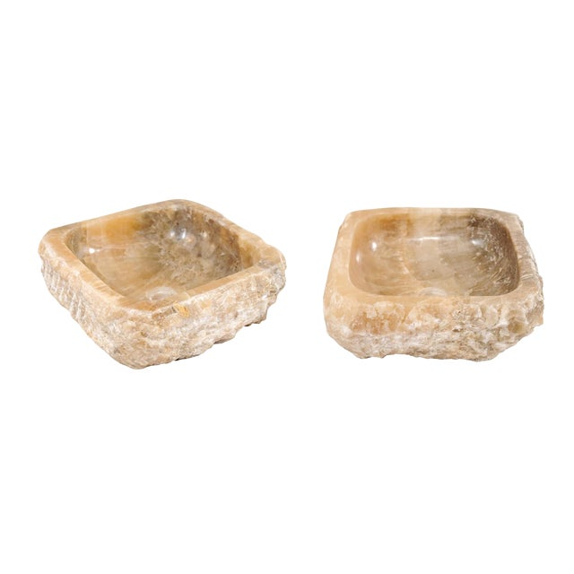 Pair of Natural Onyx Sink Basins For Sale