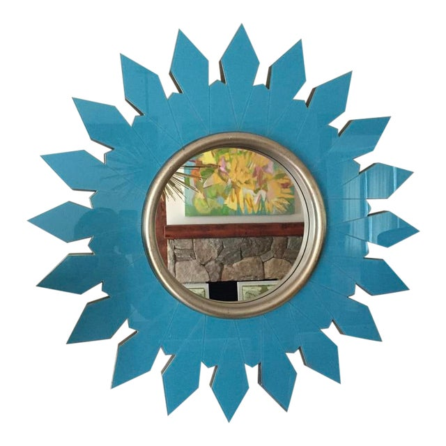 Algonquin Hotel Turquoise Starburst Mirror For Sale