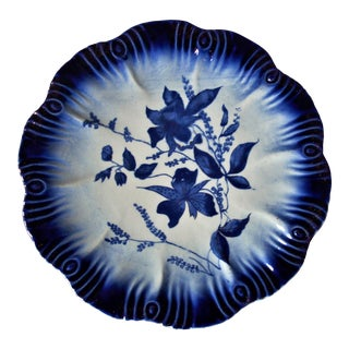 1940s Vintage English Flow Blue Serving Plate For Sale