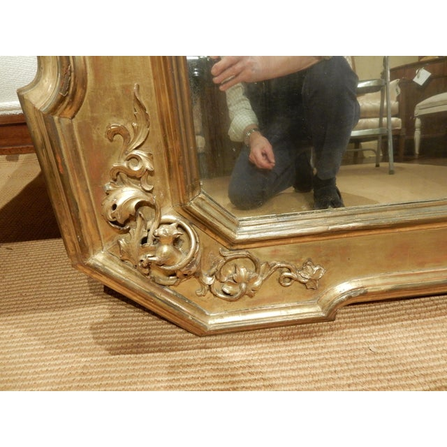 Early 19th Century Italian Gold Gilt Mirror For Sale - Image 4 of 9