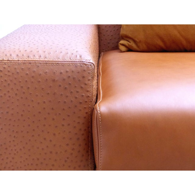 Casa Tonino Lamborghini Pilot Collection Sofa in Leather, Ostrich and Suede For Sale - Image 10 of 13