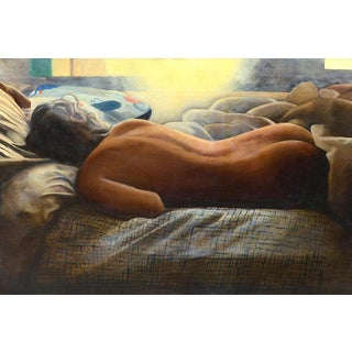"""Framed """"Resting Nude"""" Painting"""