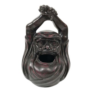 Japanese Bronze Brazier Hand Warmer in the Form of Daruma or Bodhidharma For Sale