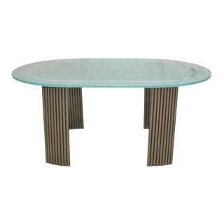 Art Deco Glass Top Dining Table For Sale