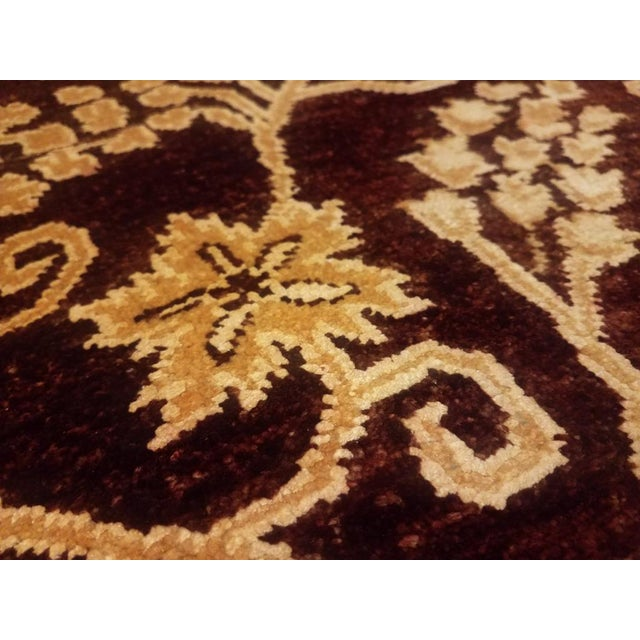 Kafkaz Peshawar Yolanda Red/Gold Wool Rug - 8'11 X 11'11 For Sale - Image 4 of 7
