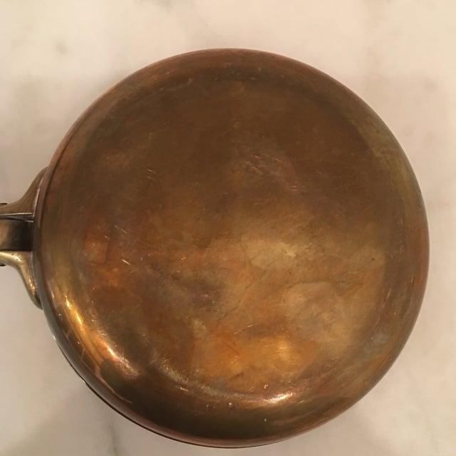 Copper 1950s Vintage Carl Auböck Brass Silent Butler Pan For Sale - Image 8 of 12