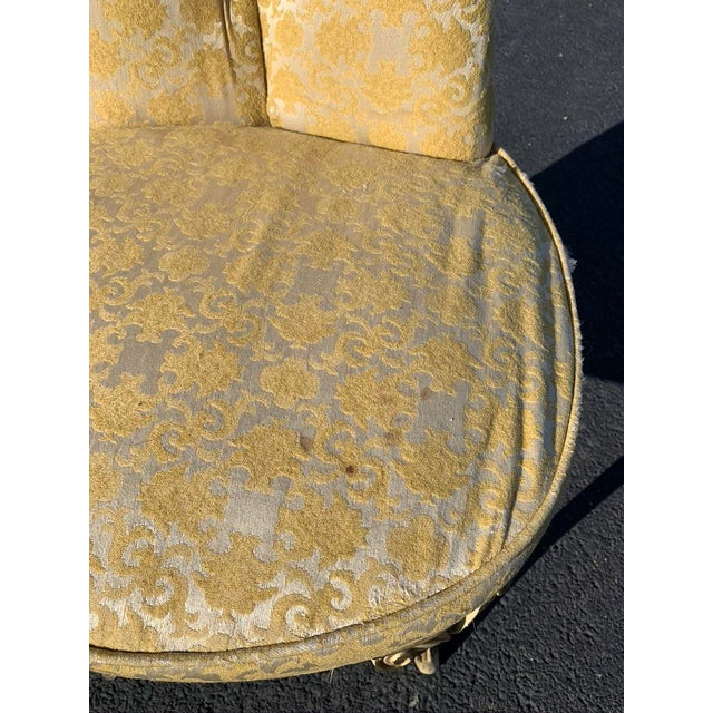 Mid-Century Hollywood Regency Asymmetrical Chairs- A Pair For Sale - Image 10 of 13