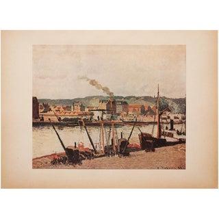 """1930s Camille Pissarro, Rare Original """"The Seine in Rouen"""" Lithograph For Sale"""