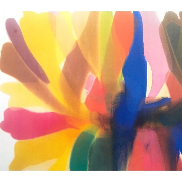 """Mid-Century Modern Original Vintage 1989 Morris Louis Exhibition Lithograph Poster """"Point of Tranquility"""" 1959 For Sale - Image 3 of 12"""