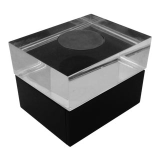 Lucite & Silver Black Box