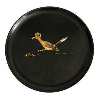 Vintage Couroc Roadrunner Tray For Sale