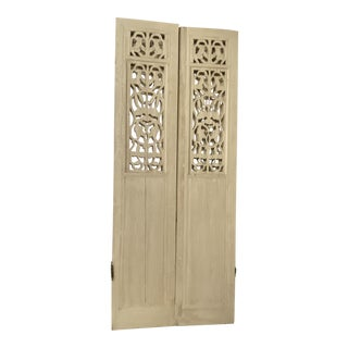 Spanish Revival Mediterranean Shutters - A Pair For Sale